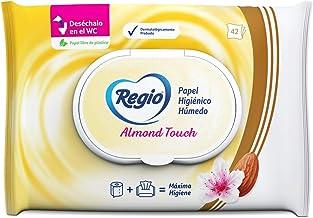 Regio Luxury Almond Touch - Paquete con 42 hojas de papel higiénico húmedo
