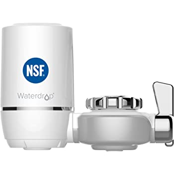 Waterdrop WD-FC-01 NSF Certified 320-Gallon Long-Lasting Water Faucet Filtration System, Faucet Filter, Tap Water Filter, Removes Lead, Chlorine & Bad Taste - Fits Standard Faucets (1 Filter Included)