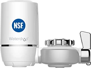 Waterdrop WD-FC-01 NSF Certified 320-Gallon Long-Lasting Filtration System, Tap Water, Removes Lead, Flouride & Chlorine-Fits Standard Faucets (1 Filter Included), White