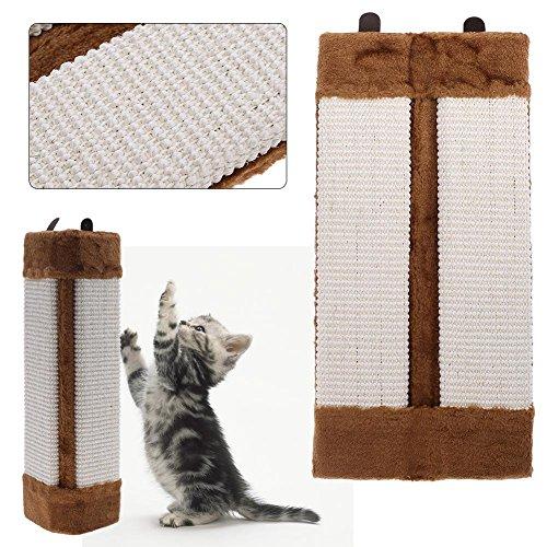 XiYuanShangMao Poste para rascar para gatos, muebles y sofá, almohadilla protectora para mascotas, esquina de sisal, rascador de pared, gatos, para colgar gatos, 50 x 23 x 2,5 cm, color marrón