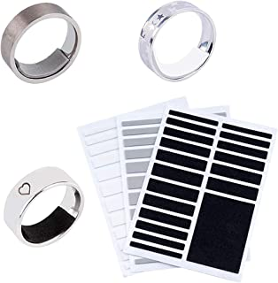 URlighting Invisible Ring Size Adjuster 3 Sheets for Loose Rings - Loose Ring Size Adjuster, Jewelry Guard, Tightener,Spacer, Sizer, Fitter for Fixing Wide Rings, Multi-Size Ring Resizer, 54 Pcs+3 DIY Zone