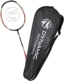 Dynamic Shuttle Sports Titan G-Force 7 Professional Carbon Fiber Badminton Racquet, Lightweight Badminton Racket Including...