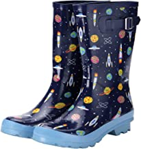 VAMV Girls & Boys Rain Boots with Easy-On Handles in for Toddlers and Kids
