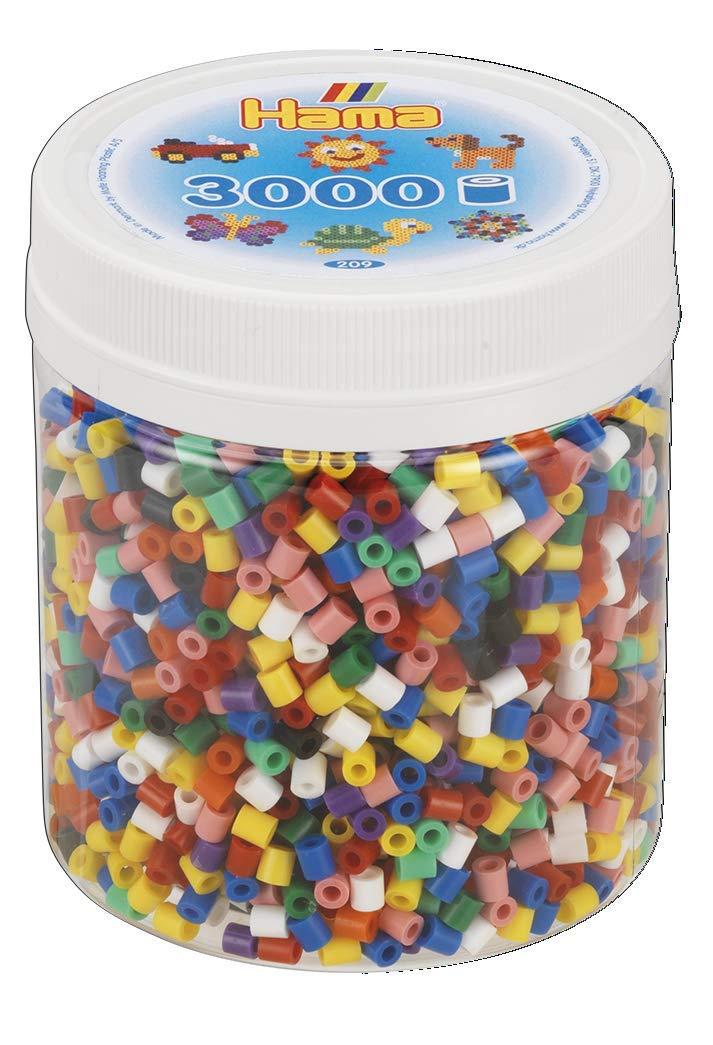 Hama 10.209-00 3.000 Beads - Mosaico de Mezcla sólida, Talla única: Amazon.es: Juguetes y juegos