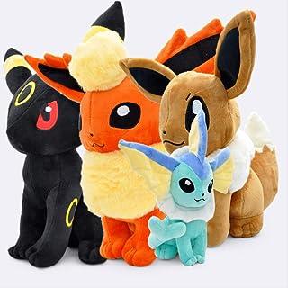 4 stks Big Sitting Eevee Vaporeon Flareon Umbreon Soft Knuffel Knuffels voor kinderen 30cm pokemon knuffel LHAHGLY