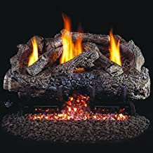 Peterson Real Fyre 24-inch Charred Frontier Oak Log Set With Vent-free Propane Ansi Certified G10 Burner - Variable Flame Remote