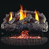 Peterson Real Fyre 18-inch Charred Frontier Oak Log Set With Vent-free Propane Ansi Certified G10 Burner - Variable Flame Remote