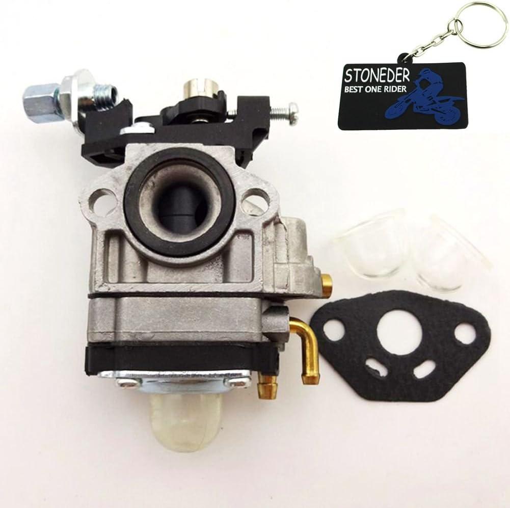STONEDER Carburador carburador Carby Junta Primer foco para motor de 2 tiempos Viza Viper Zooma Bladez Goped 23cc 26cc 33cc Gas Scooter
