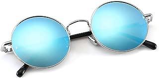 Retro Classic Round Polarized Sunglasses for Women Men Hippie Glasses