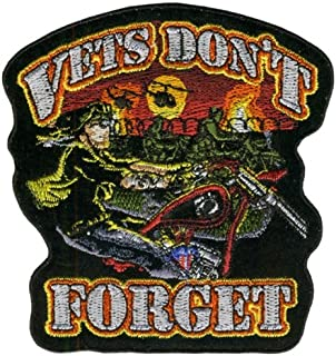 Hot Leathers Vets Don'T Forget Patch (4 Width x 4 Height)