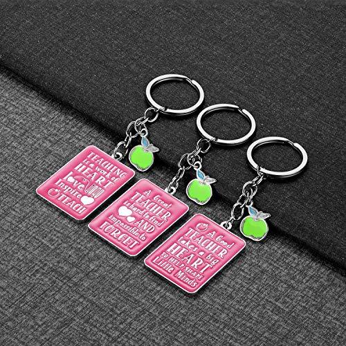 Teacher Gifts for Women - 3 Pack Teacher Keychain, Teacher Appreciation Gift, Thank You Gifts for Teacher, Christmas Valentine's Day Gifts for Teacher Photo #5