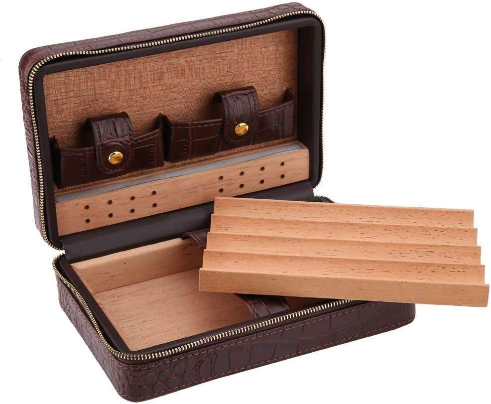 Jacksking Max 43% OFF Portable Humidor Cigar Many popular brands Box Cedar Case Travel S
