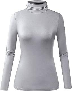 Women's Long Sleeve Lightweight Soft Pullover Turtleneck...