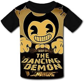 QIANBAIHUI Kids Youth The Dancing Demon 3D Printed O-Neck T Shirt Tee