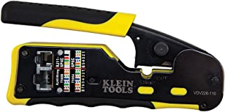 Klein Tools VDV226-110 Ratcheting Modular Cable Crimper / Wire Stripper / Wire Cutter, ..