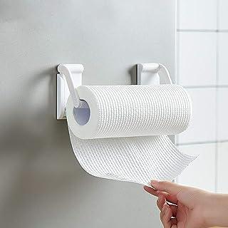 حامل منشفة ورقية مغناطيسي، لا حفر الثلاجة المغناطيسي لفة حامل الأنسجة، حامل ورق المرحاض البسيط الحديث للحمام المطبخ الأبيض