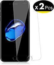 NEW'C Lot de 2, Verre Trempé pour iPhone 7 Plus, iPhone 8 Plus, Film Protection écran - Anti Rayures - sans Bulles d'air -Ultra Résistant (0,33mm HD Ultra Transparent) Dureté 9H Glass