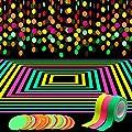 WATINC 72ft Neon Paper Garland, Circle Dots Hanging…