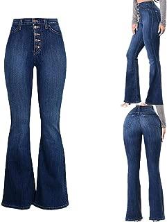 Farjing Pants Women High Waisted Skinny Denim Jeans Stretch Slim Pants Calf Length Jeans