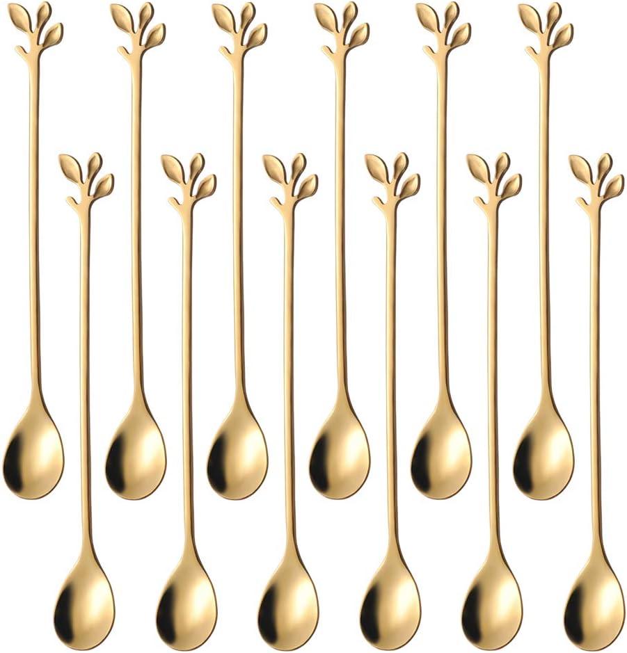 Coffee Dedication 40% OFF Cheap Sale Spoon set AnSaw 12 Pcs Creative teaspoons Gold 6.5