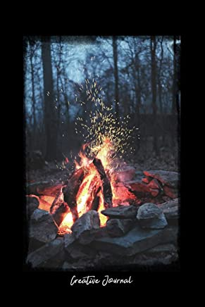 Creative Journal: Dot Grid Journal - Nature Fire Bonfire Camp Outdoor Woods - black Dotted Diary, Planner, Gratitude, Writing, Travel, Goal, Bullet Notebook - 6x9 120 pages