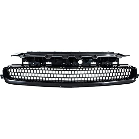 Front Upper Bumper Grille Black w//Chrome Trim Molding Compatible for Dodge Challenger 2008-2014