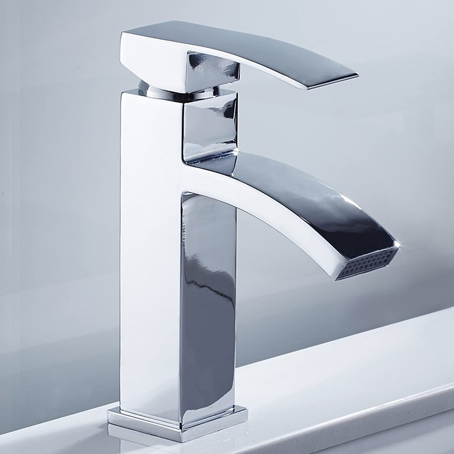 Waterfall Basin Sink Taps Mixer Tap Monobloc Single Lever Mixer Faucet Chrome