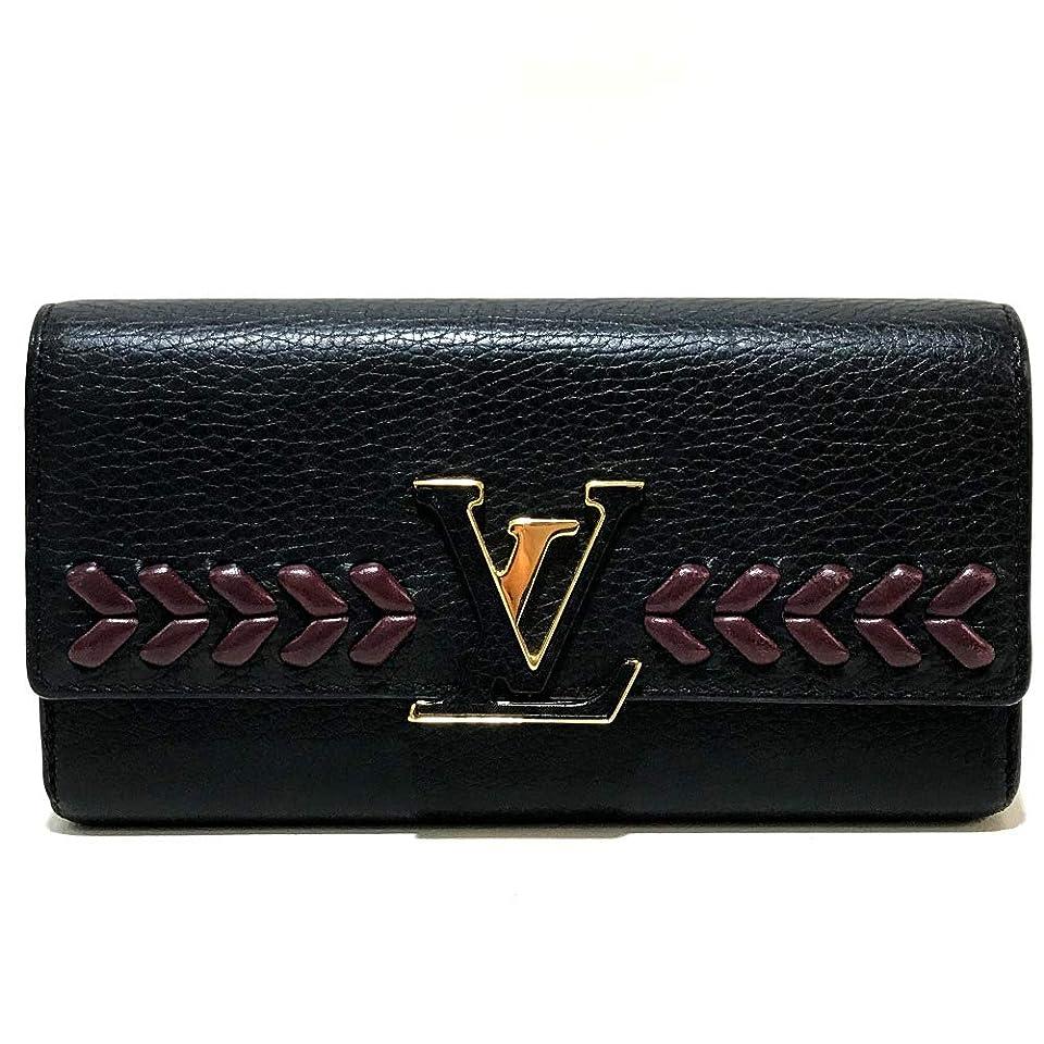 固有のブレイズそこから(ルイ?ヴィトン)LOUIS VUITTON M62076 ポルトフォイユ?カプシーヌ トリヨン 長財布 二つ折り財布(小銭入れあり) トリヨンレザー レディース 中古