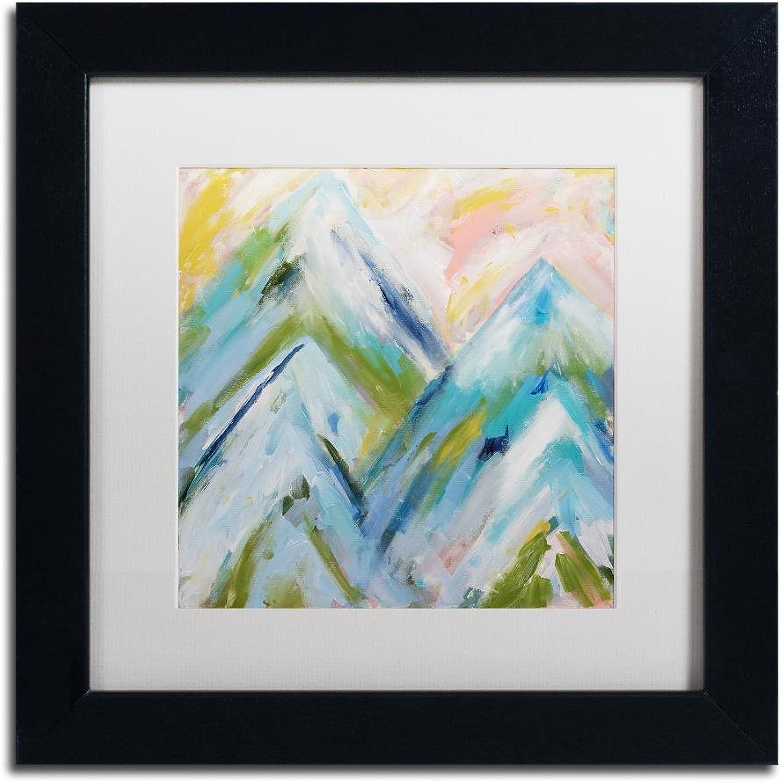 Trademark Fine Art colorado blueebird Sky by Carrie Schmitt Wall Art, White Matte, Black Frame 11x11