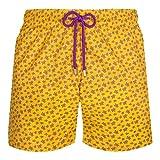 VILEBREQUIN Men Swimwear Ultra-Light and Packable Micro Ronde Des Tortues - Amarillo - L