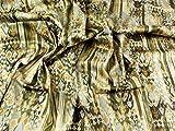 Italienisches gemustert Stretch Baumwolle Satin Kleid Stoff