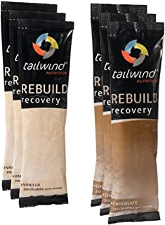 Tailwind Nutrition Rebuild Recovery Vanilla and Chocolate 6 Stick Packs