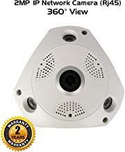 Ares Vision 2mp IP Network POE Fish-Eye 180 Degree Super Wide View CCTV Camera w/IR Night Vision, Flush Mount