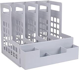 Archivi di File File Cabinet Titolare File Affari Vassoio Documenti scrivania File Supporto dellorganizzatore della Maglia del Metallo Lettera Sorter Hollow Metal Design libreria Color : Silver