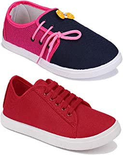 Shoefly Women Multicolour Latest Collection Sneakers Shoes- Pack of 2 (Combo-(2)-11028-5003)