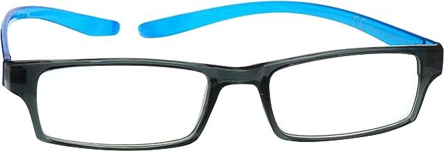 L'azienda Occhiali Da Lettura Nero Blu Brillante Collo Lettori Uomo Donna R20-3 Diottria +2,00