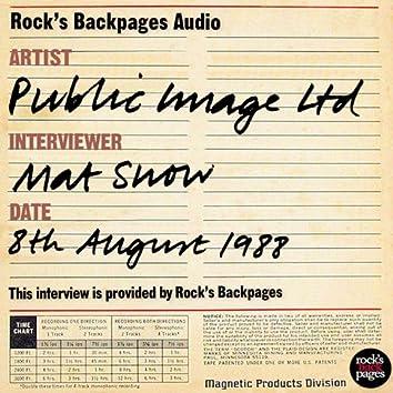 Public Image Ltd Interviewed By Mat Snow