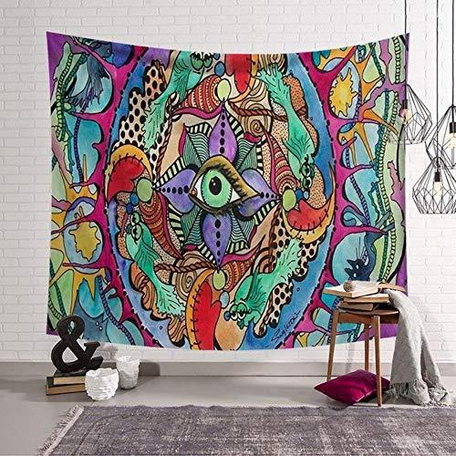 Tapiz nórdico de Amazon, decoración para colgar en la pared, varios estilos de tapiz de tela de alfombra abstracta psicodélica