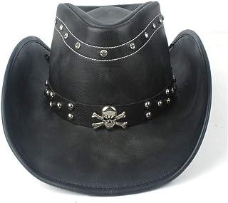 帽子 テンガロンハット 旅行 メンズ 帽子 日よけ つば広 演劇 おしゃれ 西部 ウエスタン LCLJP (Color : ブラック, Size : 58-59cm)