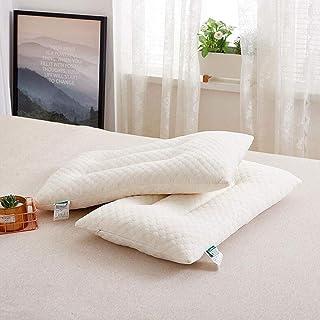 2pcs 100% Natural, látex Ajustable plumón Almohada, Cubierta de la Fibra, Mejor Almohada for Dormir for apoyar la Cabeza y Cuello, Standard consolador de la Reina