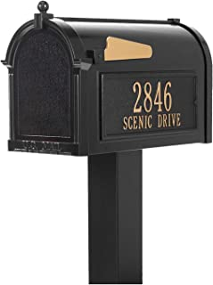 Whitehall Products Premium Mailbox Package -Black,