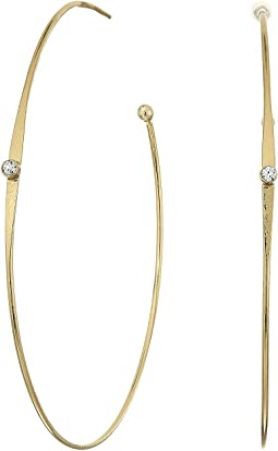 LAUREN Ralph Lauren - Fringe Worthy Large Hoop Stone Earrings