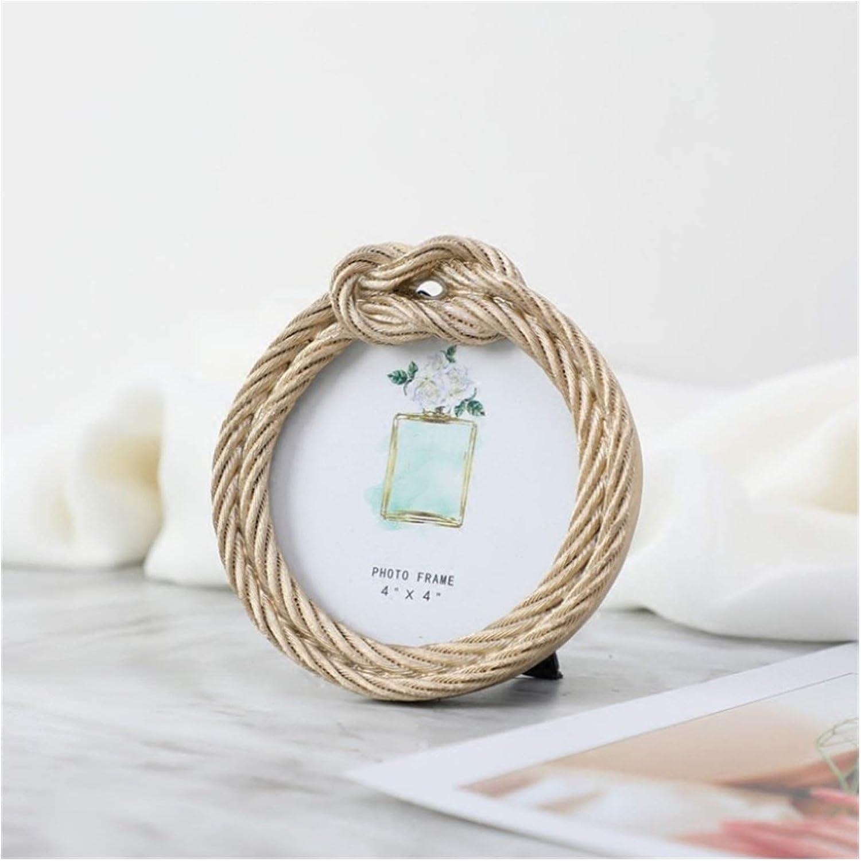 XIALITR Photo Popular Finally resale start overseas Frame in Resin European Rope Retr Hemp