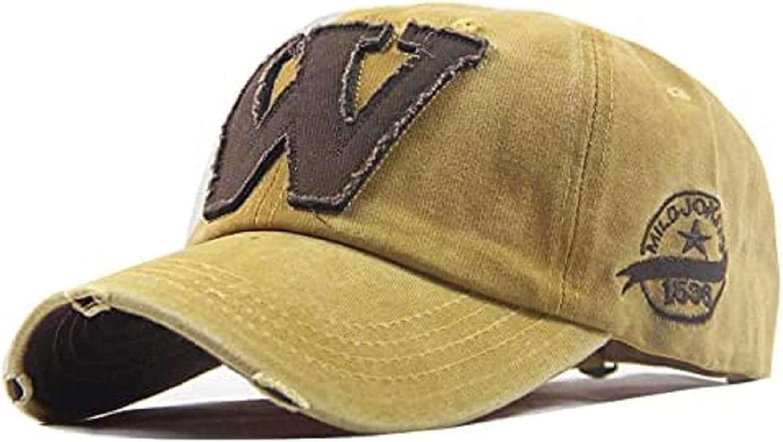 Vintage Distressed Dad Hat Light Acid Washed Denim Ripped Baseball Cap Trucker Hat Adjustable Clip for Universal Fit