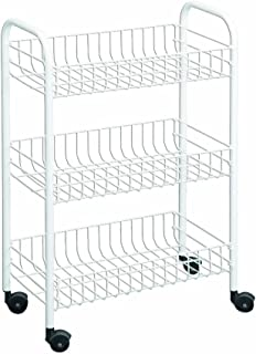Metaltex USA Inc. Rolling Cart, White, 3-Tier