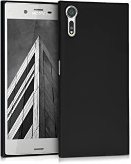 kwmobile Funda para Sony Xperia XZ/XZs - Carcasa para móvil en [TPU Silicona] - Protector [Trasero] en [Negro Metalizado]
