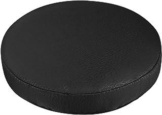 VOSAREA - Funda de cojín de asiento, taburete elástico, grueso, funda de taburete, práctico protector de silla redondo suave para tienda, casa – Negro (diámetro 30 cm)