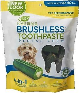 Ark Lighting (3 Pack) ARK Naturals Breath-Less Chewable Brushless Toothpaste, Medium/Large - 18oz Bags