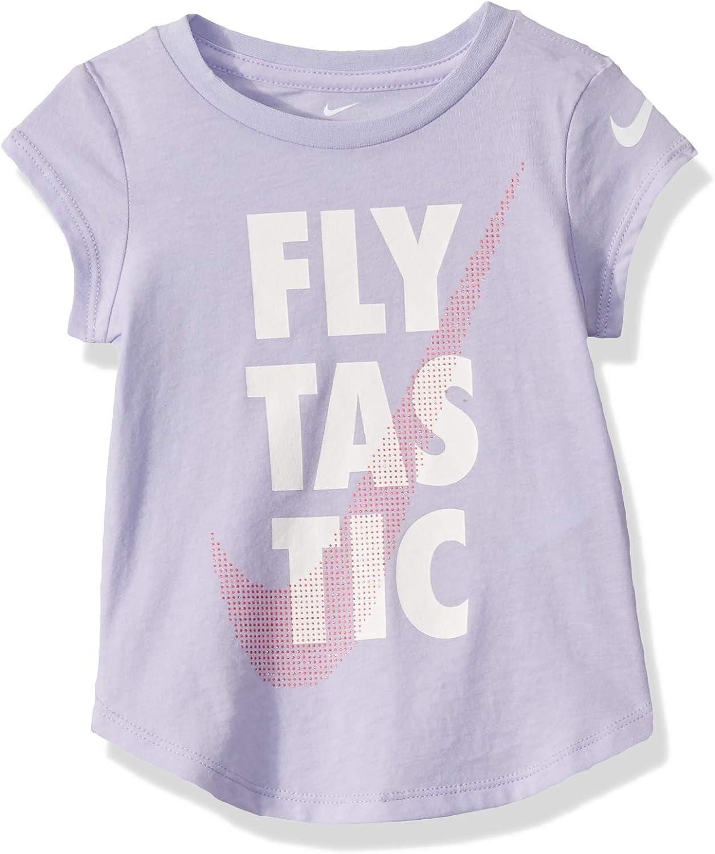 Nike Kids Baby Girl's Logo Graphic Short Sleeve T-Shirt (Toddler)