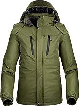 OutdoorMaster Men's Ski Jacket Basic - Winter Jacket with Elastic Powder Skirt & Removable Hood, Waterproof & Windproof